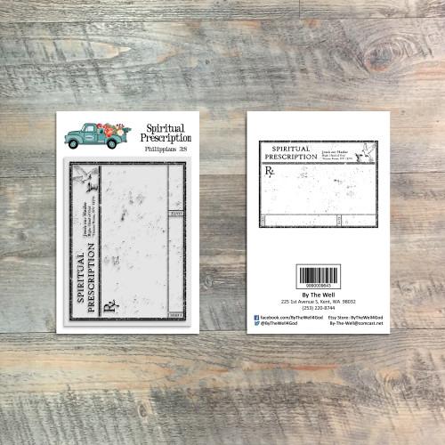 Spiritual Prescription - 1 Piece 3x4 Stamp Set - ByTheWell4God