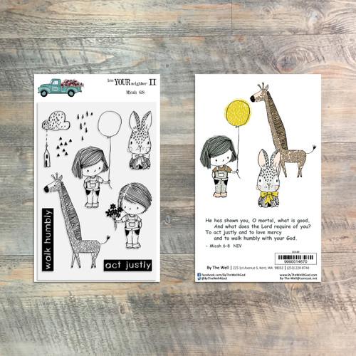 Love Your Neighbor II Stamp Set - 9 Piece Stamp Set - ByTheWell4God