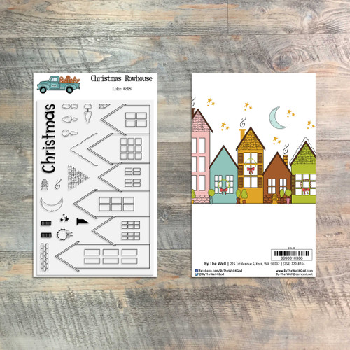 Christmas Rowhouse - 18 Piece Stamp Set - ByTheWell4God