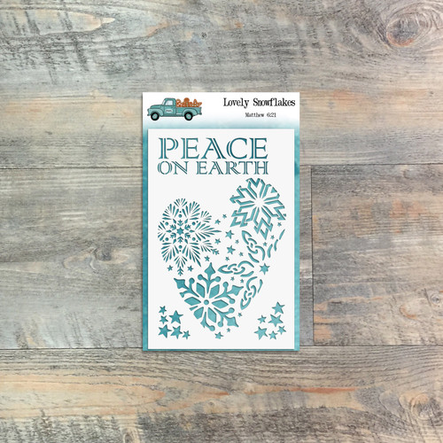 "Lovely Snowflakes - Custom stencil to coordinate with ""25 Gifts of Love"" - ByTheWell4God"