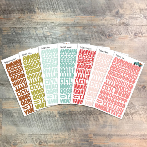 "Godsent Clear Stickers - 7 Sheets of Clear Stickers, Inspired by ""25 Gifts of Love"" - For the margins of your Bible!"