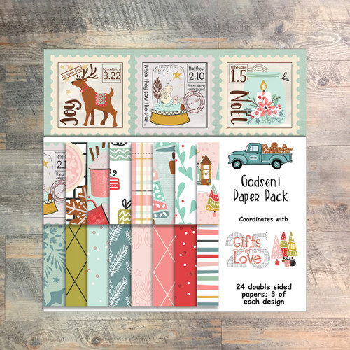 25 Gifts of Love - Godsent Paper Collection - 24 Double Sided 6x6 Papers