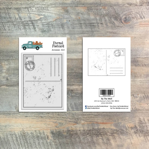 Eternal Postcard - 1 Piece 3x4 Stamp Set - ByTheWell4God