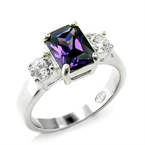 Amethyst Cubic Zirconia ring for women