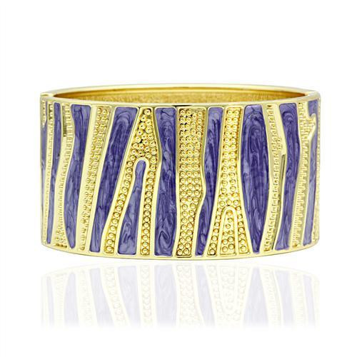 Women's Purple and Gold Bangle Bracelet.