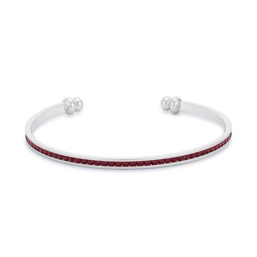 Garnet Cuff Bracelet for Women