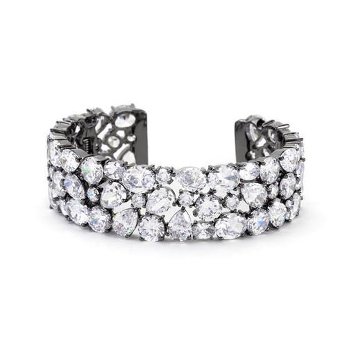 Simulated Diamond Cuff Bracelet for women
