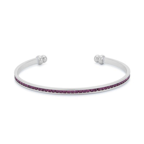 Amethyst Birthstone Cuff Bracelet