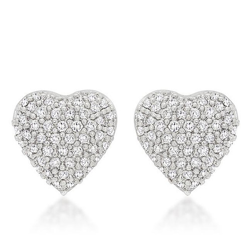 Heart Shaped Crystal Earrings