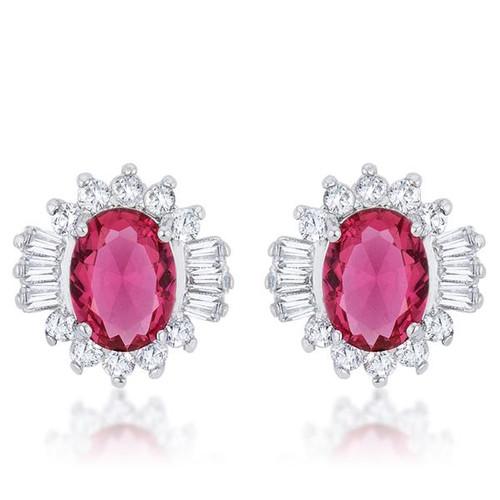 Women's Ruby Stud Earrings
