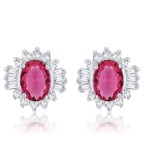 Women's Ruby Stud Earrings