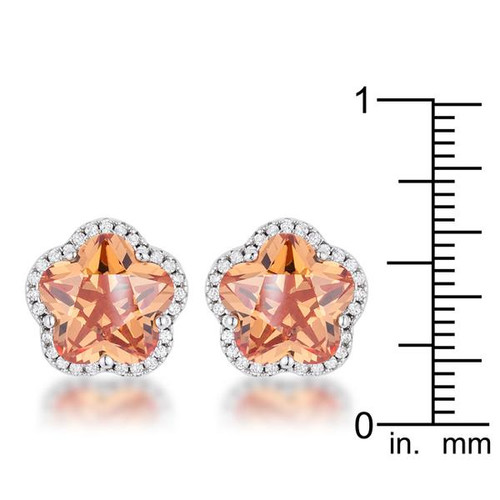 Floral Cut Champagne Cubic Zirconia