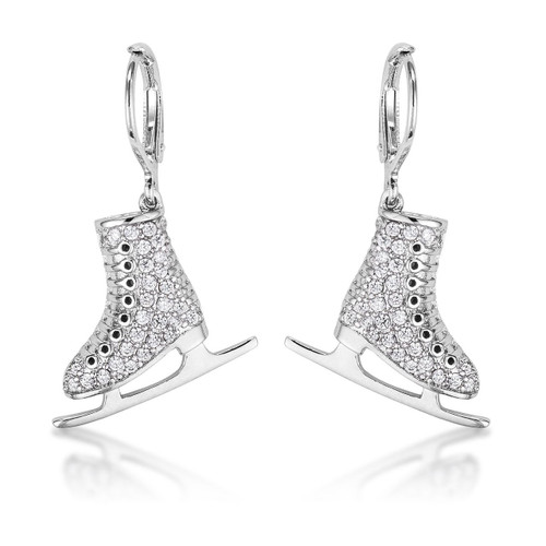 Crystal Ice Skate Earrings
