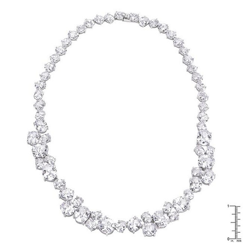 Women's Bejeweled Cubic Zirconia Collar Necklace