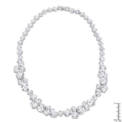 Women's Bejeweled Cubic Zirconia Collar Necklace