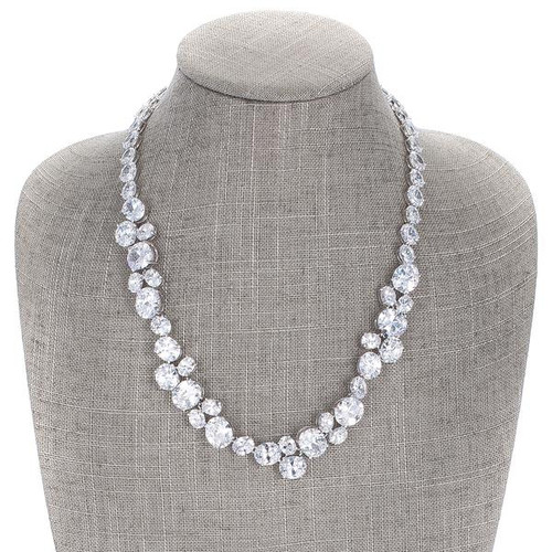 Simulated Diamond Collar Necklace for Women