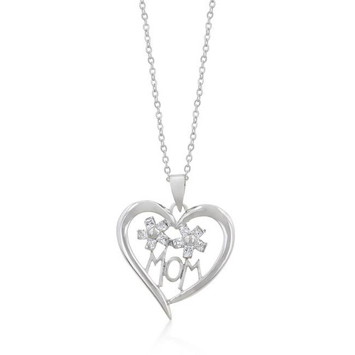 I Heart Mom Pendant Necklace