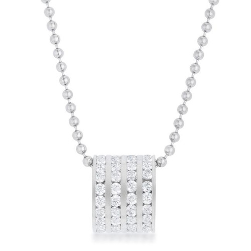 Cubic Zirconia Ball and chain necklace