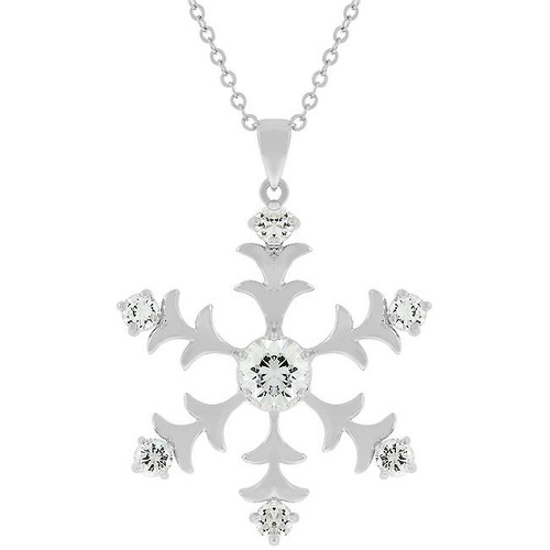 Icy Snowflake Pendant Necklace