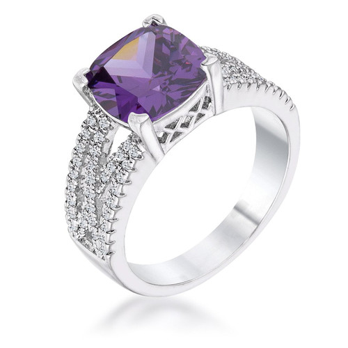 Women's Amethyst Engagement Rings