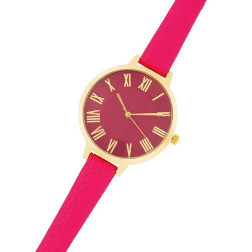 Gold with pink  strap