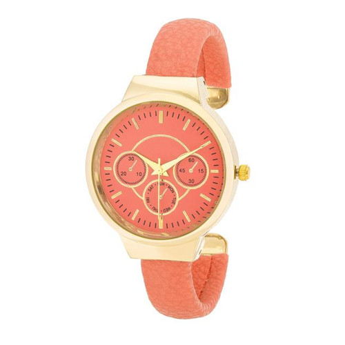 Coral Cuff Watch for Women