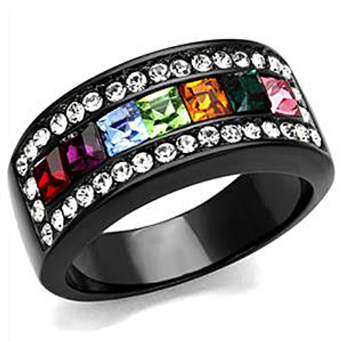 Women's Multi color crystal ring