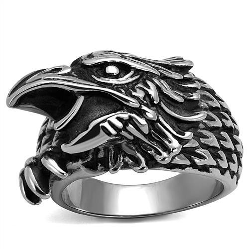 Men's Eagle Biker Rings in stainless steel
