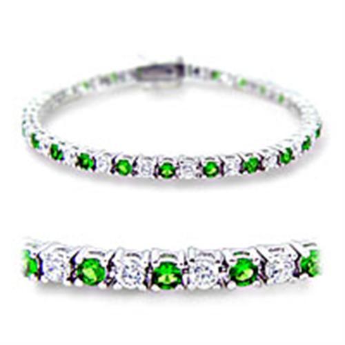 Women's Emerald Cubic Zirconia Tennis Bracelet