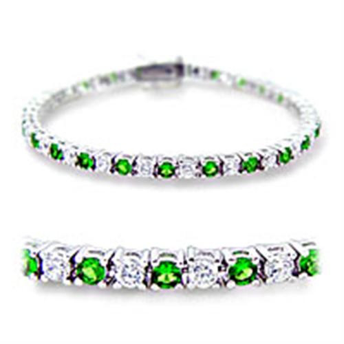 Women's Synthetic Spinel and Clear Cubic Zirconia Tennis Bracelet