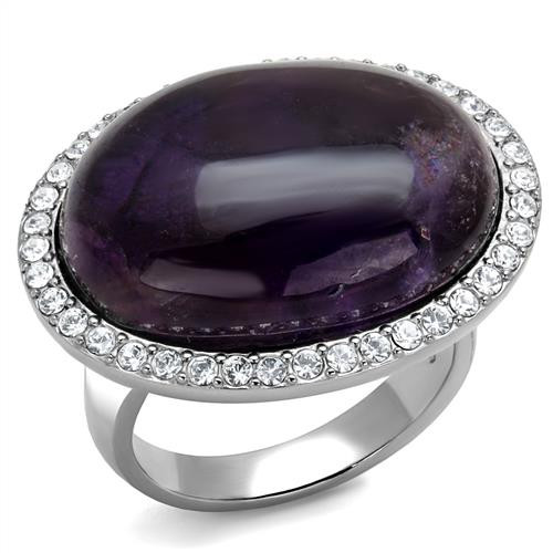 Women's Amethyst oval Ring