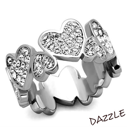 Stainless Steel Heart of Hearts Statement Ring