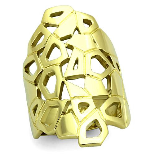 Gold Plated 31mm Stainless Steel Women's Ring