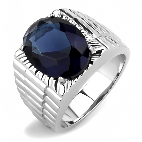 Men's Imitation Montana Sapphire Ring