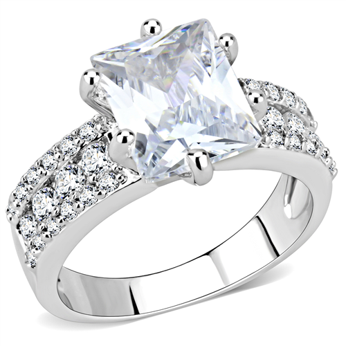 Emerald Cut Engagement Ring faux diamnd