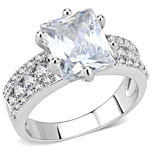 Emerald Cut Engagement Ring faux diamnd