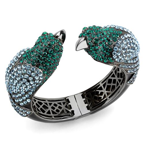 Austrian Crystal blue bird bangle bracelet