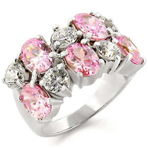 Sterling Silver Pink CZ Ring