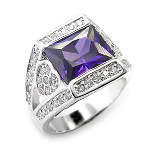 Square Cut Imitation Amethyst
