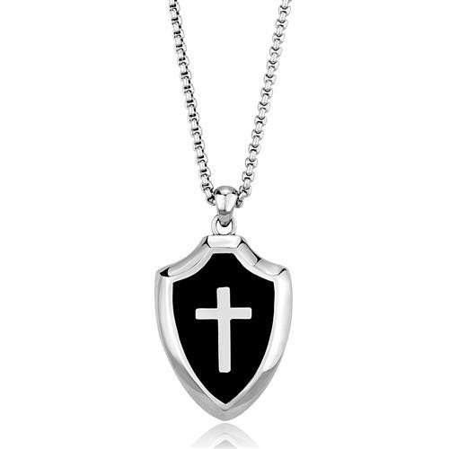Men's stainless steel cross pendant in Stainless Steel