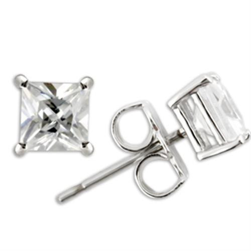 3.24 TCW Princess-Cut Cubic Zirconia Stud Earrings