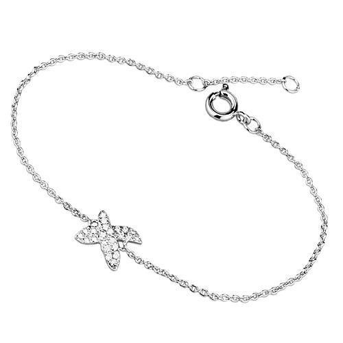 "7""Cubic Zirconia X-Shape Charm Bracelet"