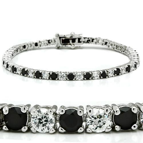 Imitation Black Diamond Tennis Bracelet