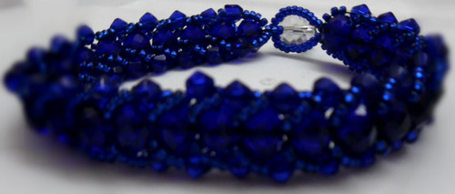 Crystal Bead Caterpillar Bracelet
