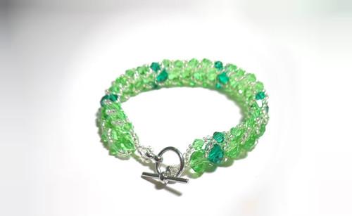 Women's handmade caterpillar bracelet