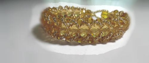 Ladies Handmade Bracelet made of Crystal Beads