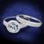 Round Cubic Zirconia 2-Piece Halo Bridal Ring Set 2.5 TCW