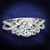 Square Cubic Zirconia Split-Shank Engagement Ring Rhodium over Sterling Silver