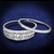 CZ Stones 2-Piece Wedding Ring Set 2.25 Total Carat Weight In Sterling Silver