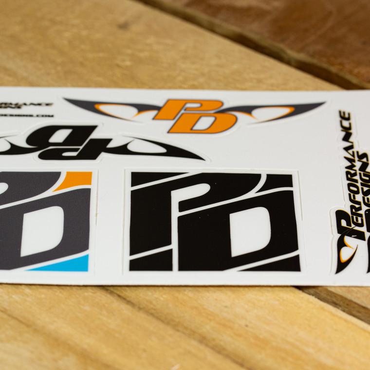 PD Block logo sticker sheet